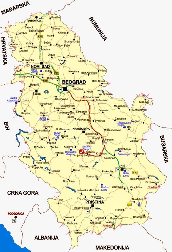 mapa vrnjacka banja kancelarija za mlade